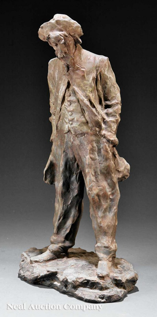 0830: Patinated Metal Figure of a Man