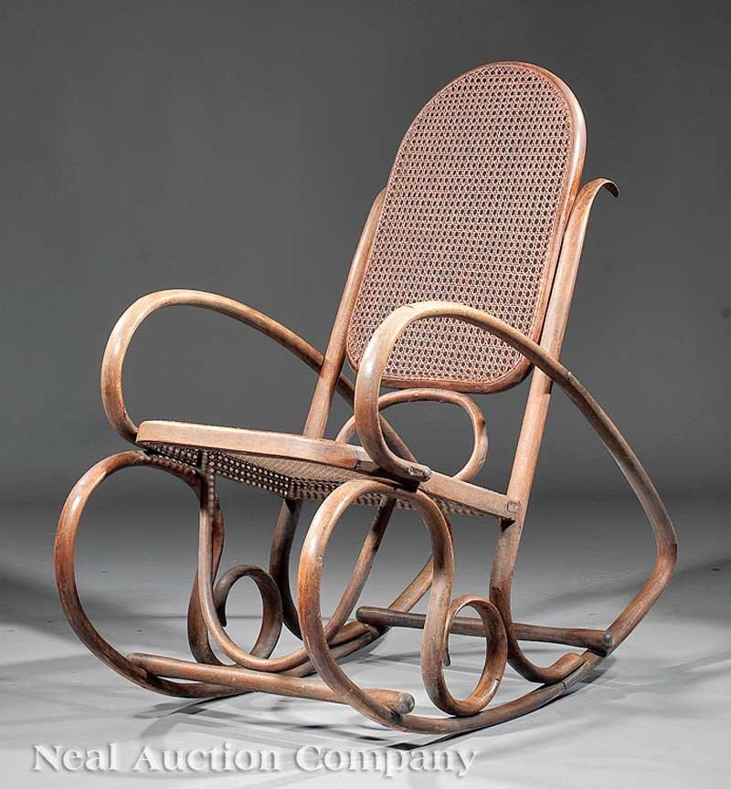 0834: Art Nouveau Bentwood Rocking Chair
