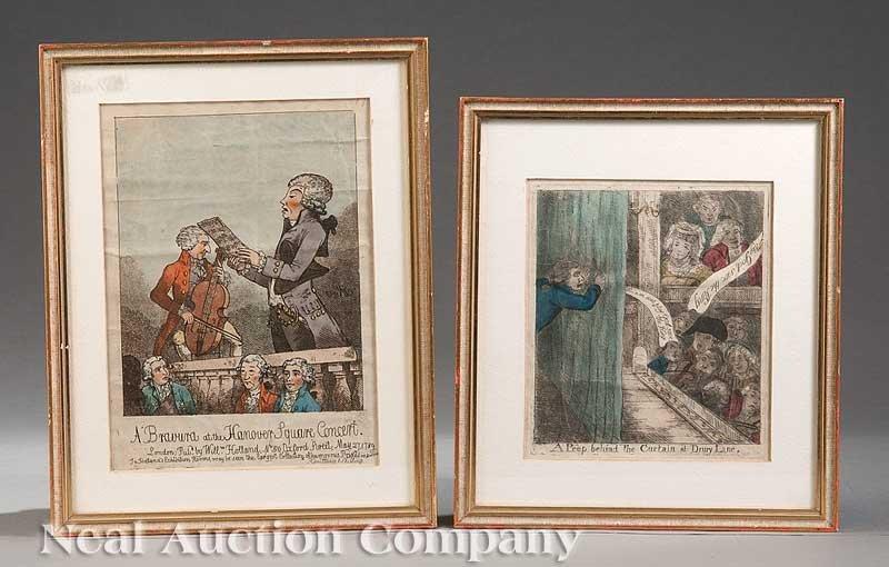 0841: Pair of English Satirical Engravings