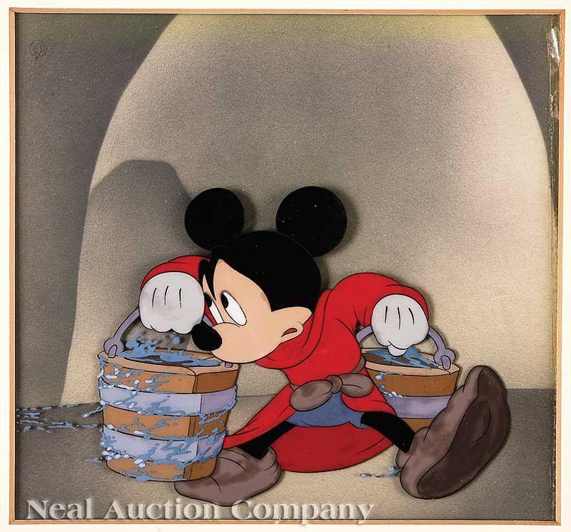 "Walt Disney Studios ""Fantasia"" Hand-Painted Cel"