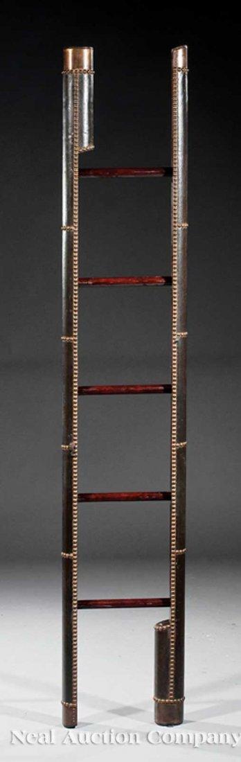 9: Black Leather and Mahogany Metamorphic Ladder
