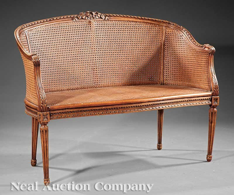 15: Carved Walnut and Caned Associated Parlour Suite