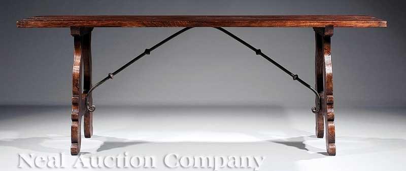 16: Renaissance-Style Walnut Trestle Table