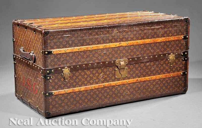 62: Louis Vuitton Steamer Trunk