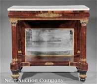 366 Classical Gilt Stenciled Mahogany Pier Table