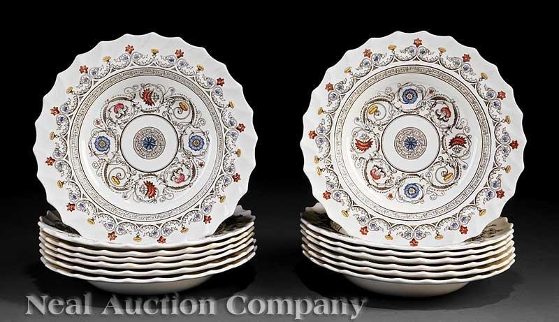 625: 14 Copeland Spode Polychrome Porcelain Bowls