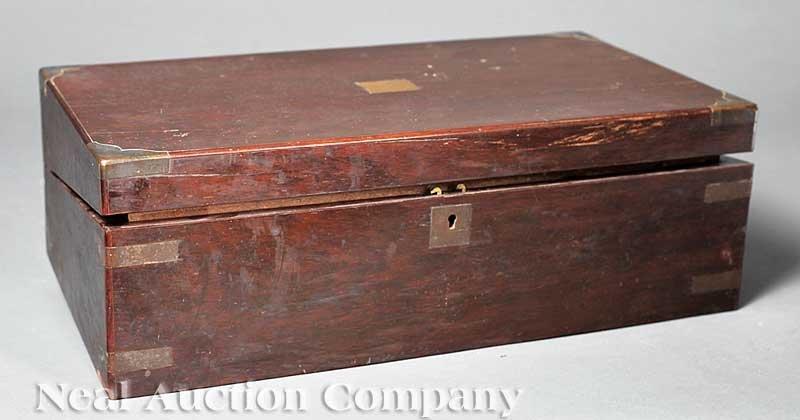 631: English Brass-Bound Rosewood Lap Desk