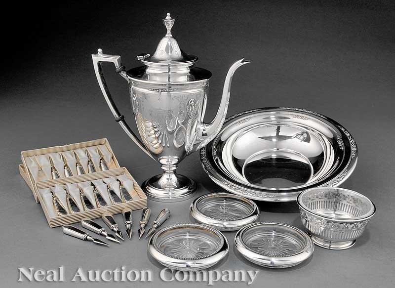 637: Group of American Sterling Silver Tableware