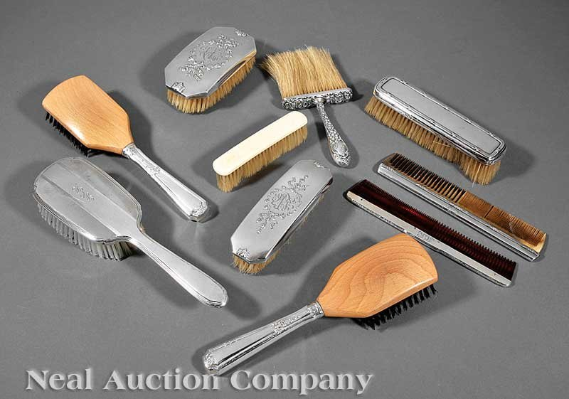 638: Silver-Mounted Hair and Clothes Brushes, Combs
