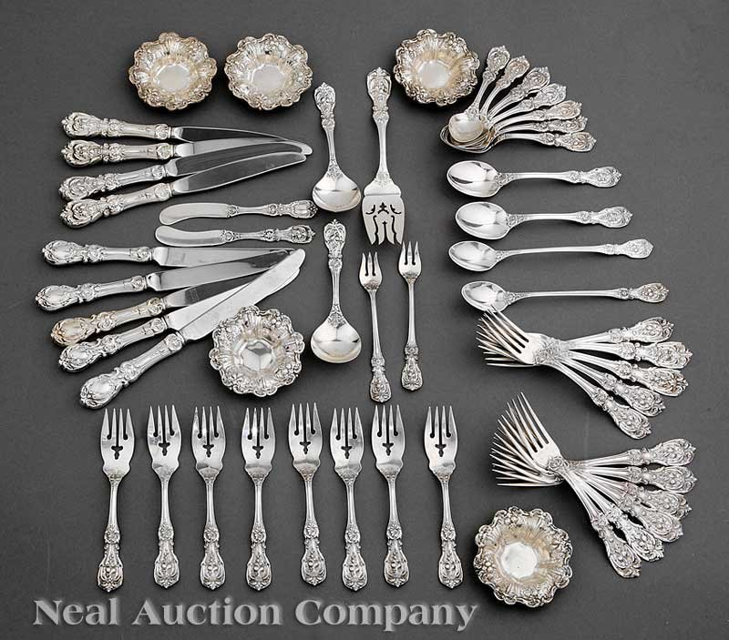 645: Reed and Barton Sterling Silver Flatware Service