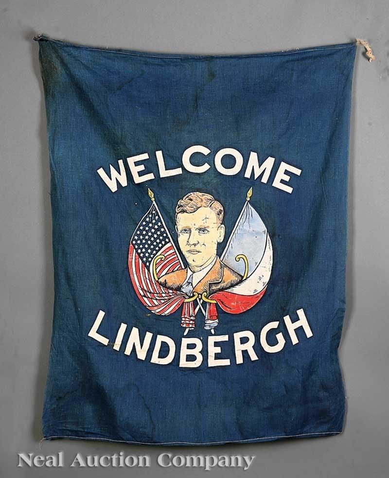 646: Charles Lindbergh Welcome Banner, c. 1927