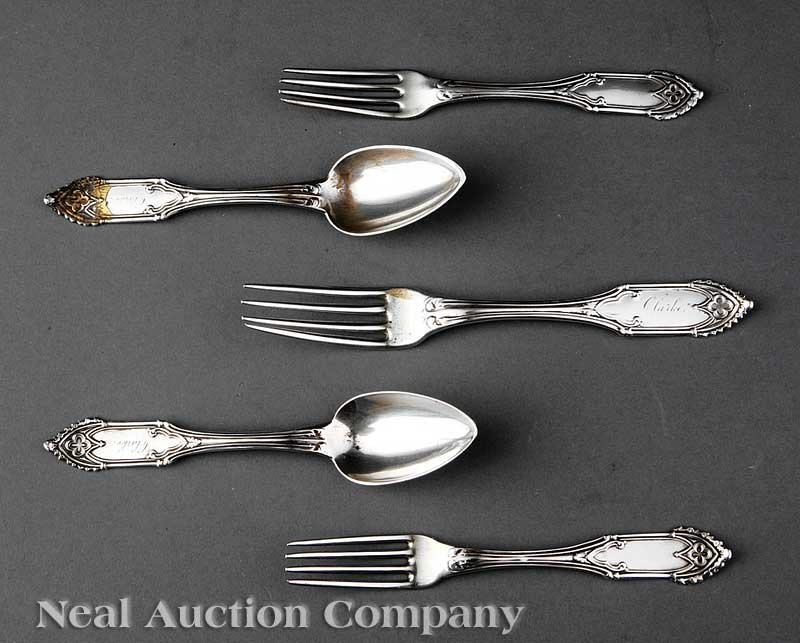 4: William Gale and Son Coin Silver Flatware