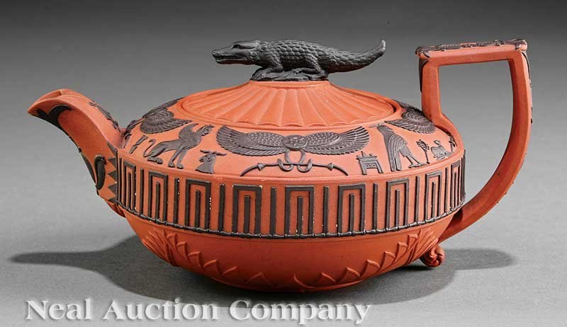 20: Wedgwood Rosso Antico Teapot