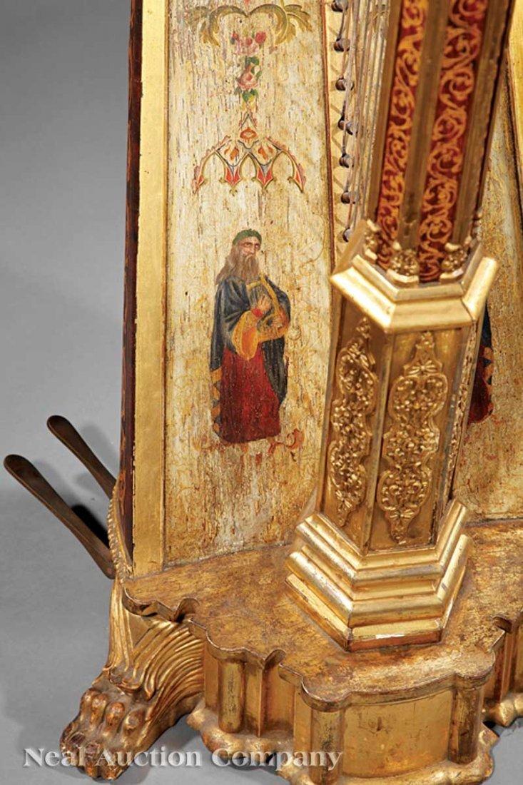 108: R. & L. Lewis Gilt Rosewood Grand Action Harp - 8