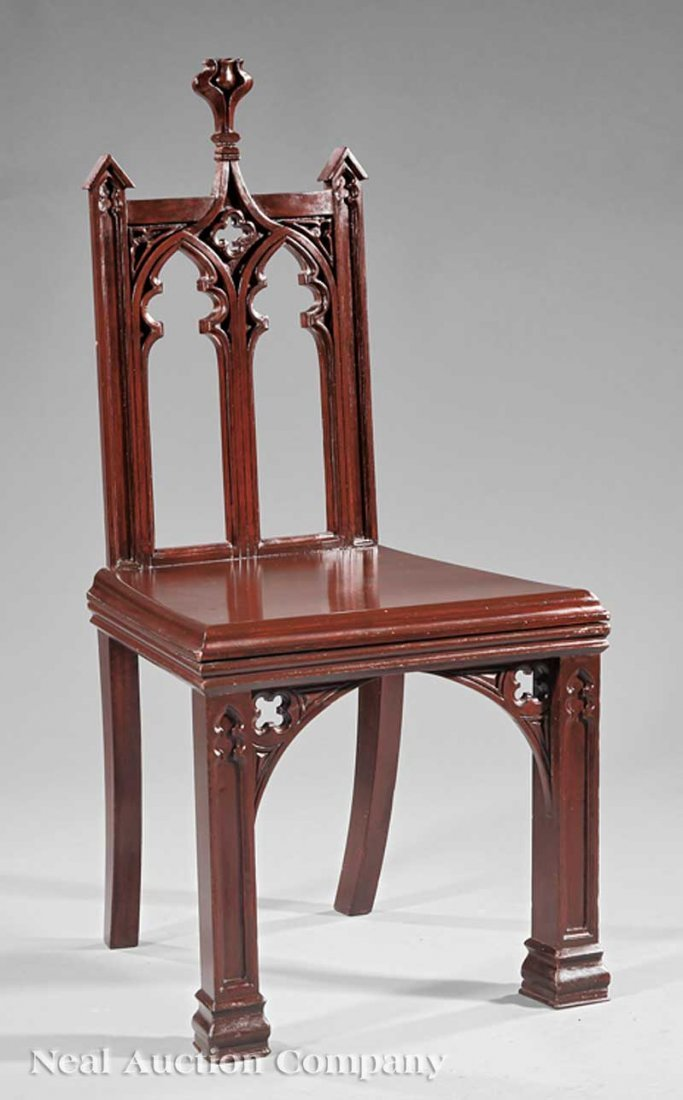 791: American Gothic Mahogany, Rosewood Hall Chair