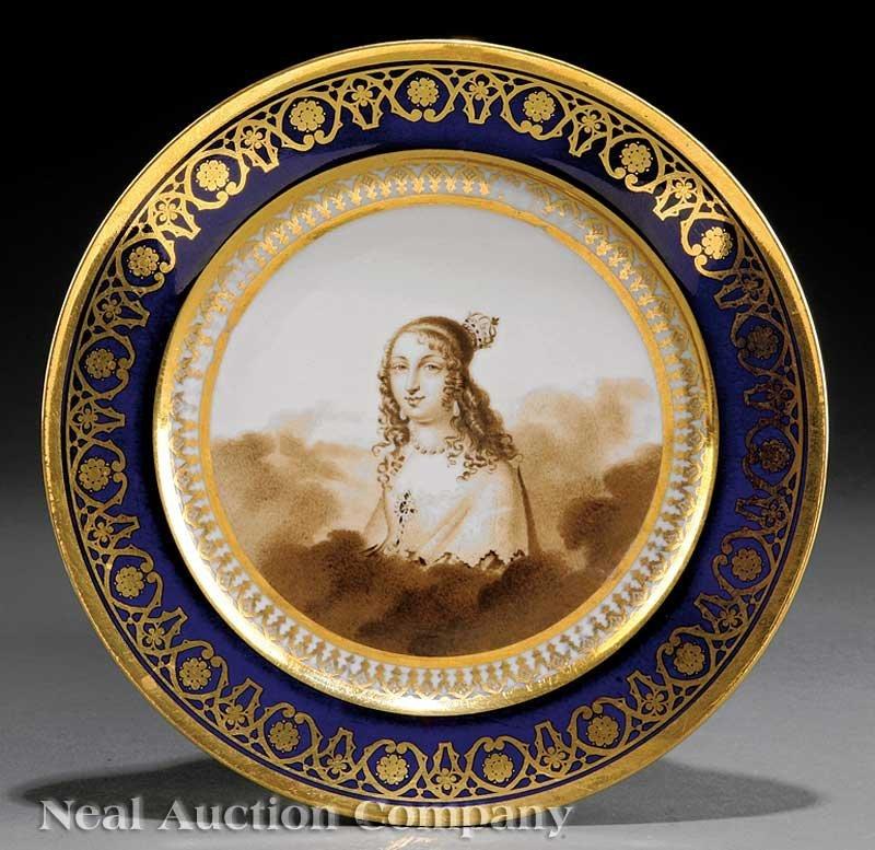 800: Paris Porcelain Cabinet Plate