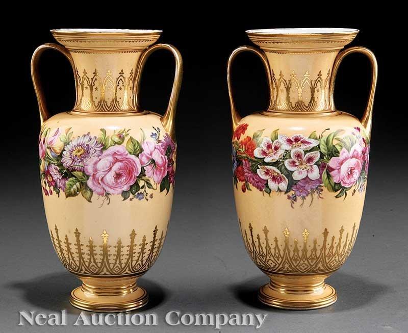 803: Paris Porcelain Garniture Vases