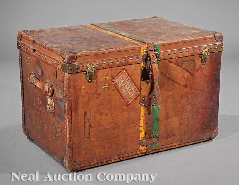 1042: Antique Louis Vuitton Steamer Trunk