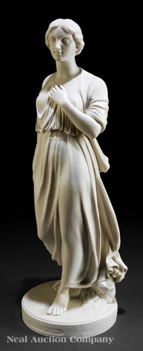 "Copeland Parian Figure Of ""Nora Creena"""
