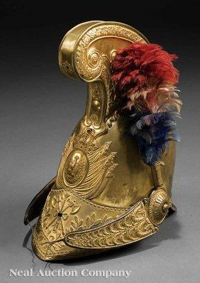 0019: A Louis Philippe Gilt Brass Officer's Helmet