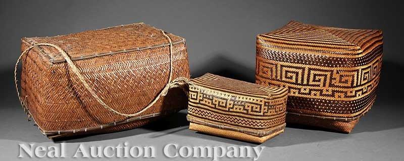 0668: A Group of Three Amazonian Shaman's Baskets