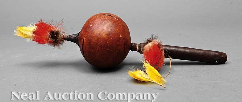0673: An Amazonian Gourd Shaman's Rattle and Basket