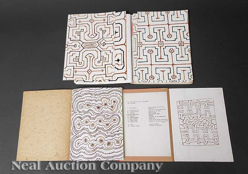 "0675: Amazonian Shaman ""Ledger Book""  and Drawings"
