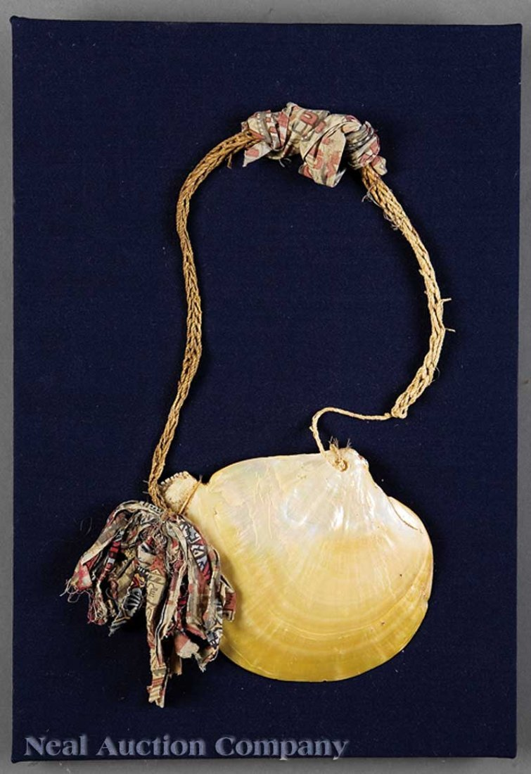 0677: Two Oceanic Shell Ornaments