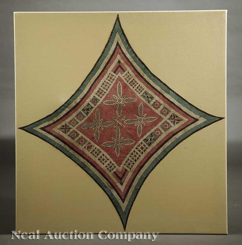 0680: An Indonesian Barkcloth Headcloth