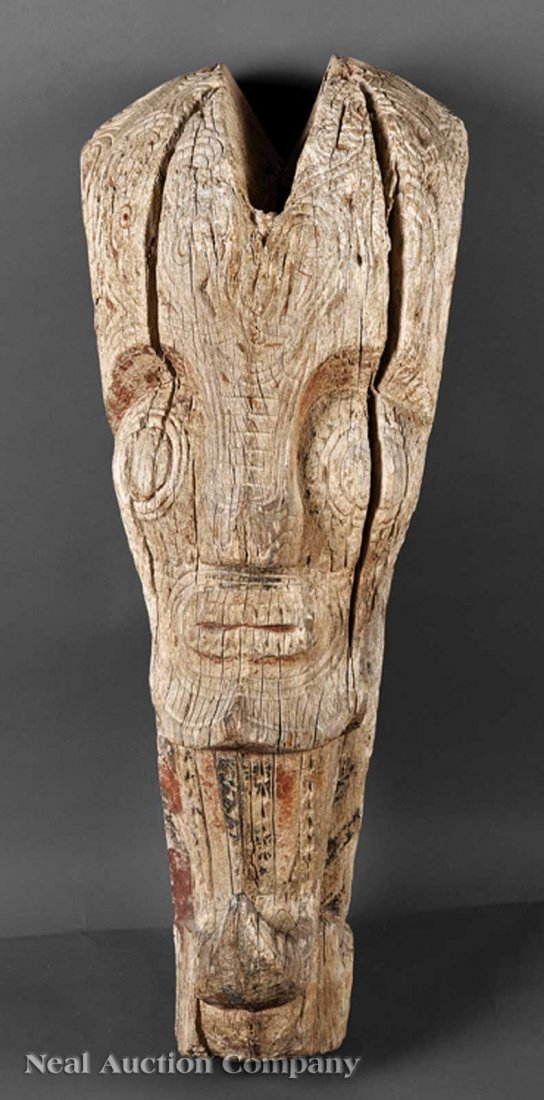 0683: Indonesian Carved Wood Architectural Element