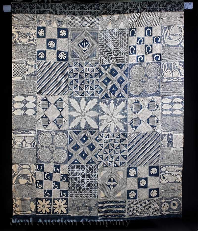 0721: An African Adire Eleko Cotton Textile
