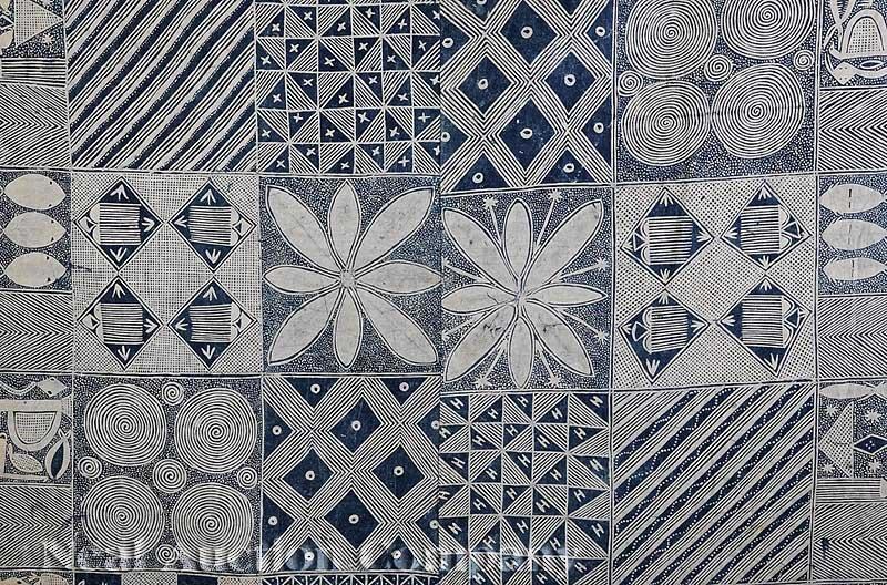 0721: An African Adire Eleko Cotton Textile - 2