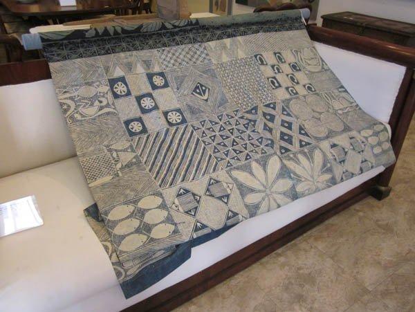 0721: An African Adire Eleko Cotton Textile - 3