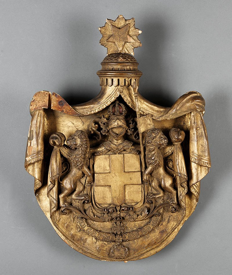 Continental Giltwood Shield of Arms