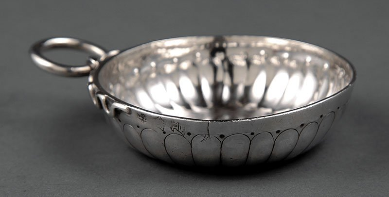 Antique French Silver Tastevin