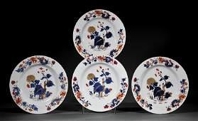 Four Chinese Export Imari Porcelain Dishes