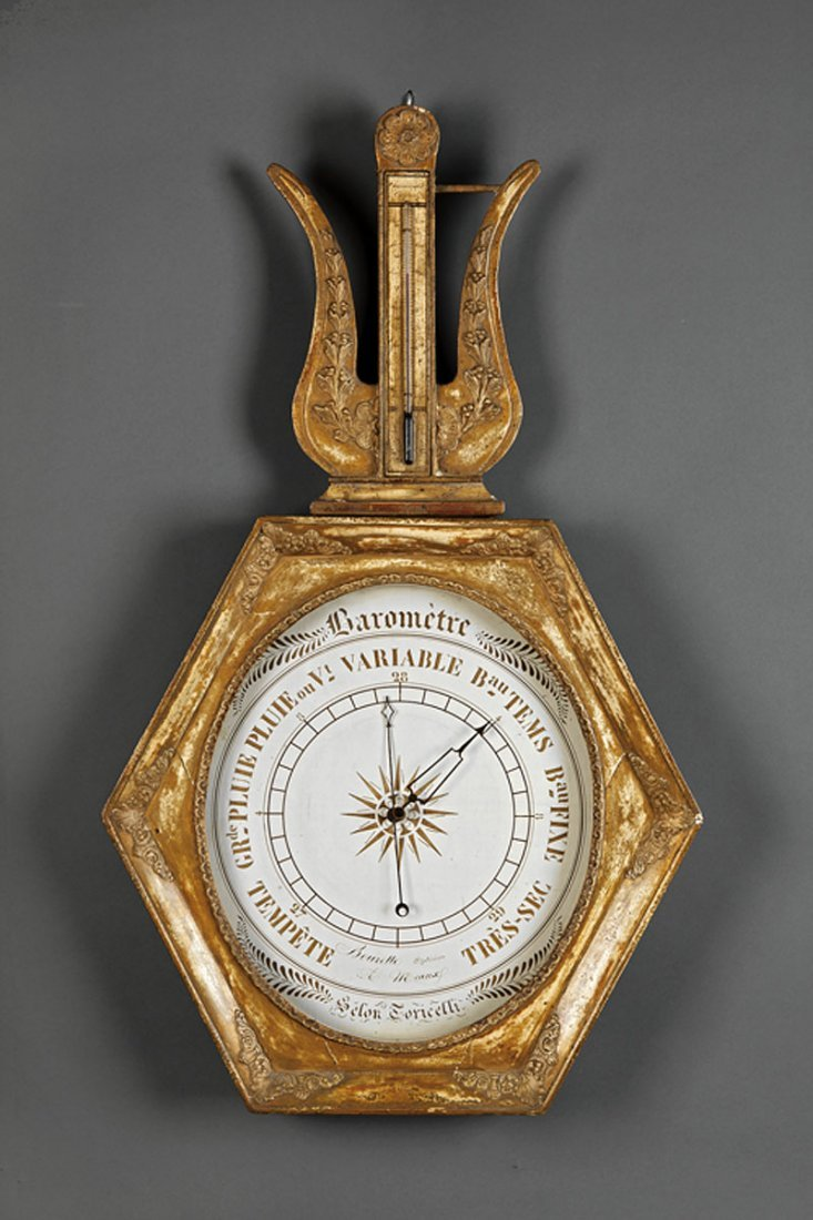 A Louis Philippe Carved and Giltwood Barometer