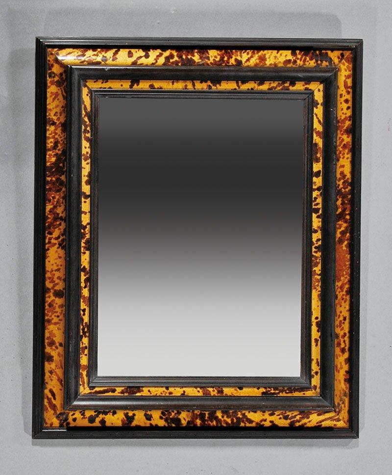 A Flemish-Style Faux Tortoiseshell Mirror
