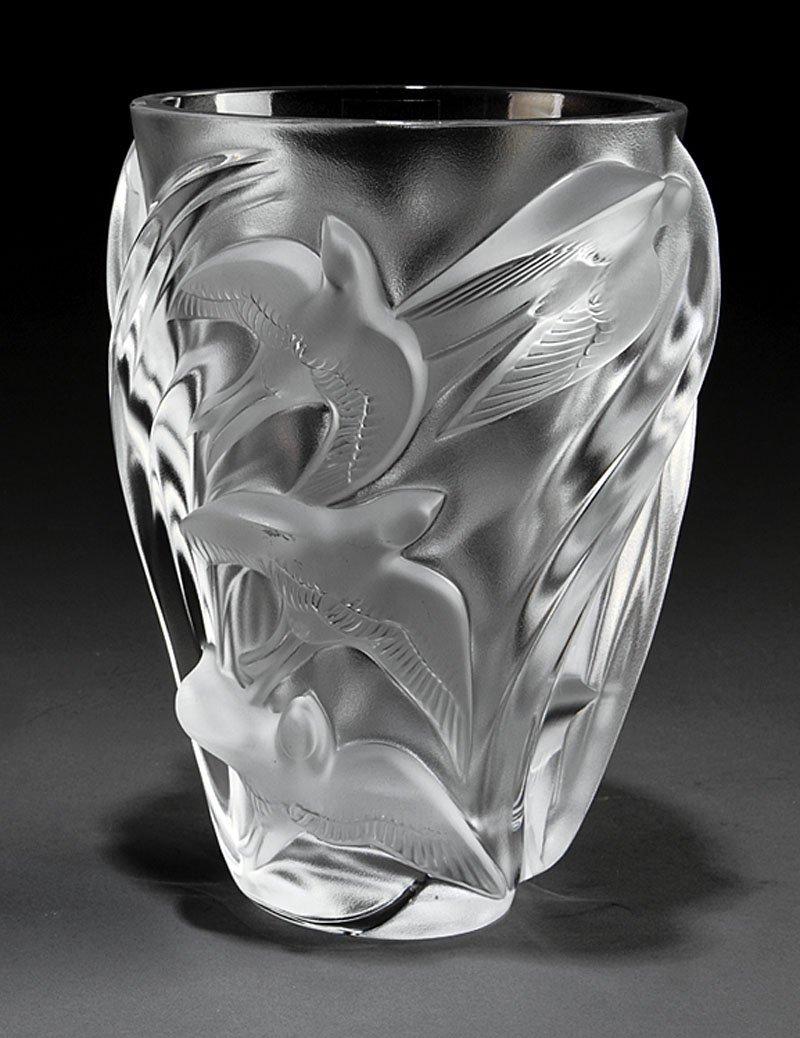"A Lalique ""Martinets"" Vase"