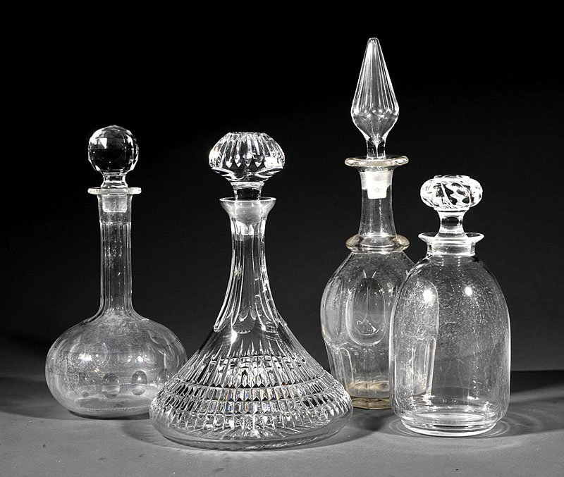 A Group of Four Glass Decanters