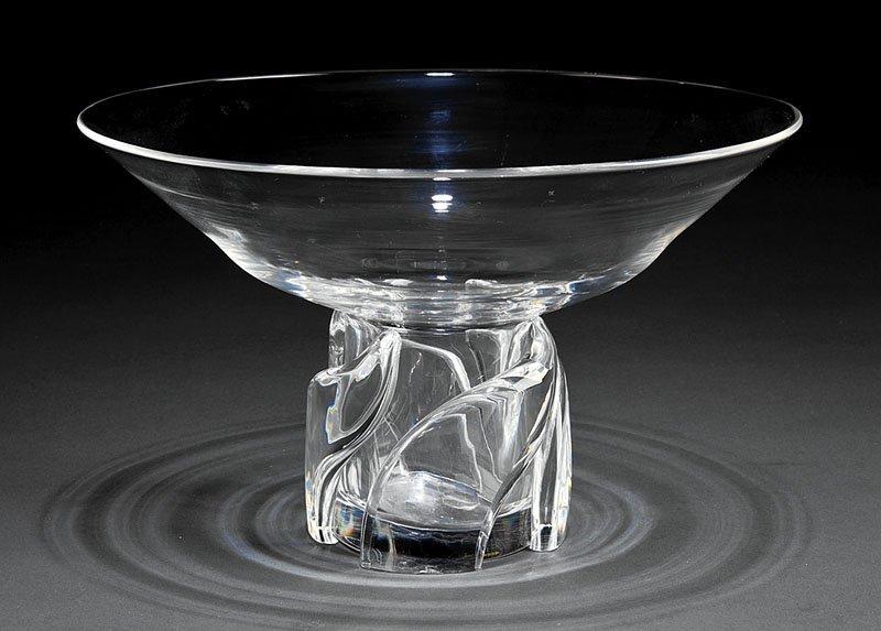 A Steuben Glass Pedestal Bowl