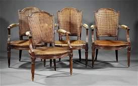 A Set of Four Louis XVI-Style Fauteuils