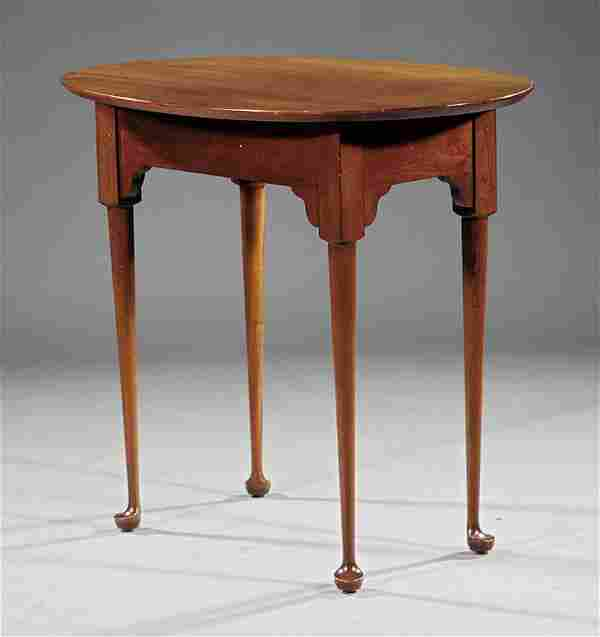 A Queen Anne-Style Mahogany Side Table