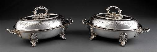 Mappin & Co. Silverplate Covered Vegetabel Dishes