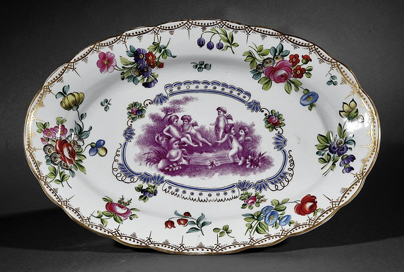Polychrome and Gilt Decorated Porcelain Platter