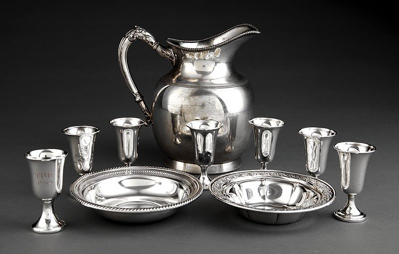 White Bros.  Silverplate Water Pitcher