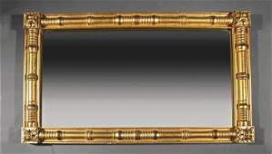 An American Classical Gilt Overmantel Mirror