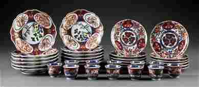 A Collection of Japanese Imari and Kutani Table Wares