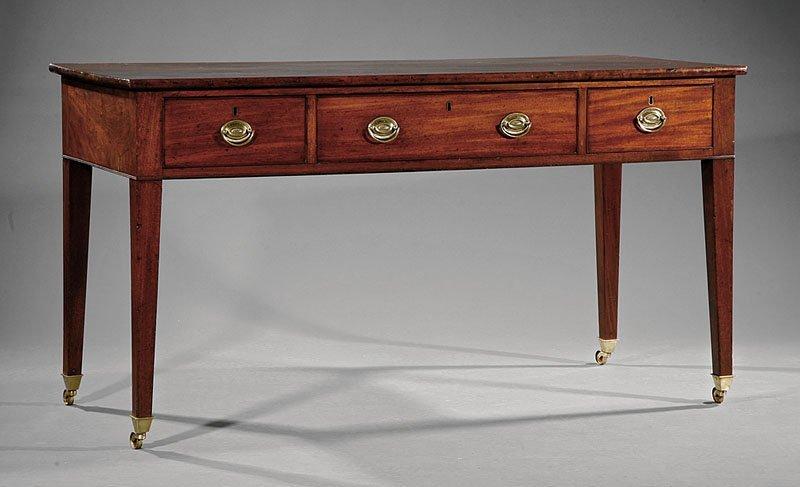 A George III Mahogany Sideboard Table