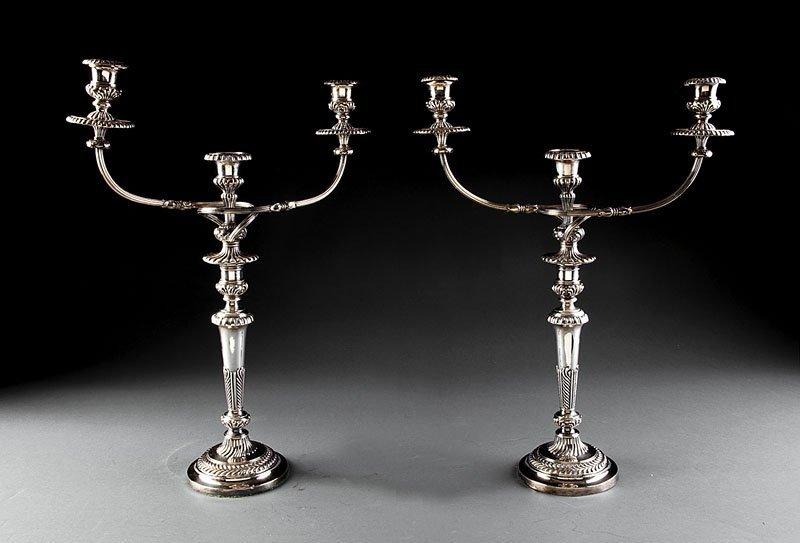 Three-Light Candelabra, Matthew Boulton & Co.